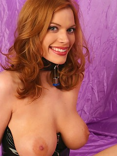 Very attractive redhead with big moth and great hot big naturals getting tortured