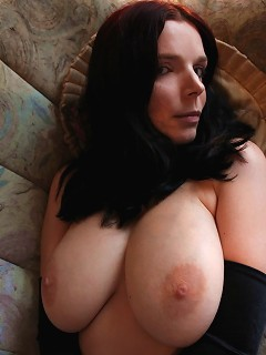 Gothic amateur with amazing body and natural great large boobs strips
