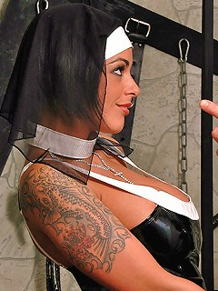 Big hooters nun Victoria Brown sucking cock and doggy fucked