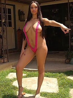 Bethany Benz nailed hard in her tight slingshot sexy fucking bikini